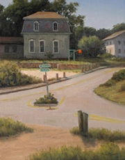 Bank St, Wellfleet, 14 x 11, Oil - plein air