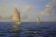 Billowing Sails, 24 x 36, Oil - Studio