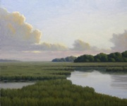Quiet Marsh, 20 x 24, Oil - Studio