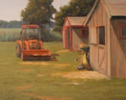 Moving Hay, 11 x 14, Oil - Plein air